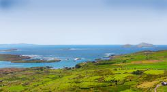 Natural beauty: A view of Ballinskelligs Bay and Scariff Island, Co Kerry, on a summer day.