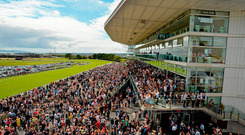With all the corporate areas nearly sold out for the first time in years, and lots of advance ticket sales, race chiefs are expecting a busy week ahead at Ballybrit. Photo: Sportsfile