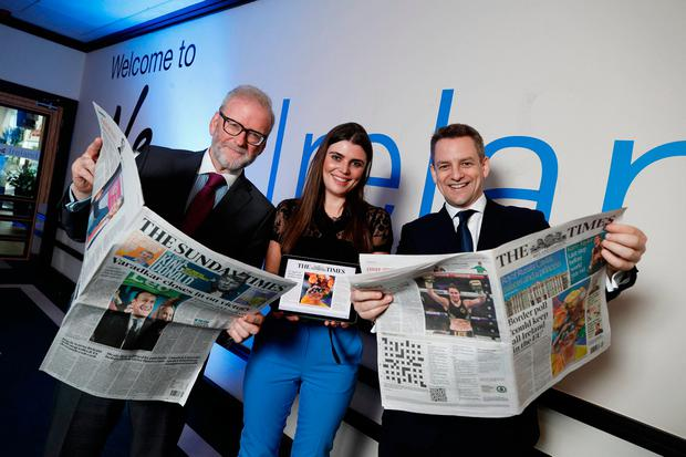 Frank Fitzgibbon, editor of The Sunday Times, Kate Gleeson, Digital Marketing Manager, News Ireland and Richard Oakley, editor of the Ireland edition of The Times