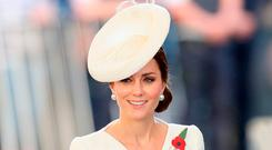 The Duchess of Cambridge attends the Last Post ceremony, which has taken place every night since 1928, at the Commonwealth War Graves Commission Ypres, Menin Gate Memorial as part of the Passchendaele commemorations