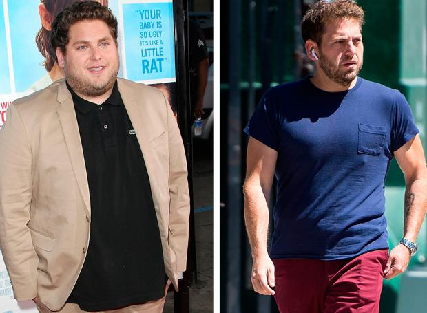 Jonah Hill in 2009, left, and Jonah Hill in 2017, right