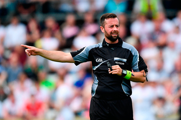 David Gough takes charge of the Tyrone-Armagh clash on Saturday. Photo: Sportsfile