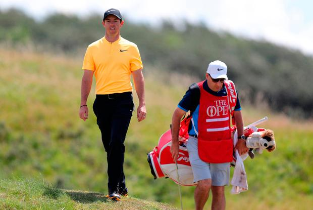 Rory McIlroy and JP Fitzgerald at Royal Birdale on the last day of the Open where there was little sign of what was to come. Photo: PA