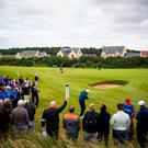 Golfer Anthony Wall during the final of Paul Lawrie Match Play at Archerfield Links, East Lothian. The majority of golf fans walk more than 10,000 steps while spectating at a tournament, a new survey has shown. Photo: PA