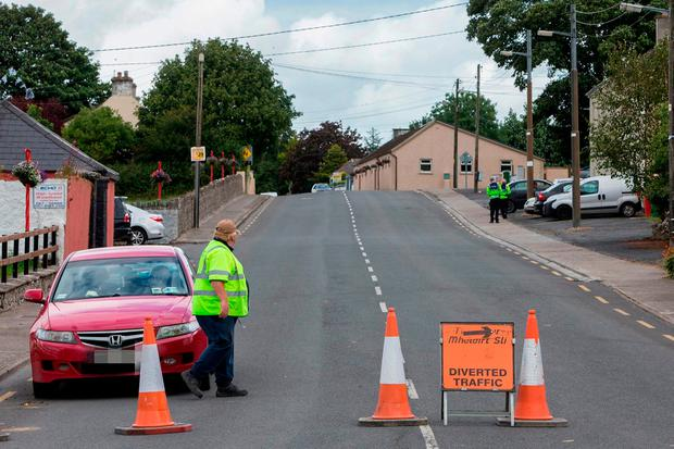 Gardaí conducting enquiries in Glengoole, Thurles, Co Tipperary, in relation to the death of Michael Stapleton. Photo: rollingnews.ie
