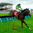 Le Richebourg, with Barry Geraghty up, jump the first on their way to winning the Galwaybayhotel.com & Radissonhotelgalway.com Novice Hurdle. Photo: Sportsfile