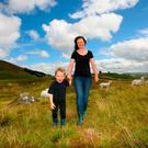 Theresa and Sean Ferdinand Roddy on the family farm at Lough Talt Co. Sligo. Photo: Brian Farrell
