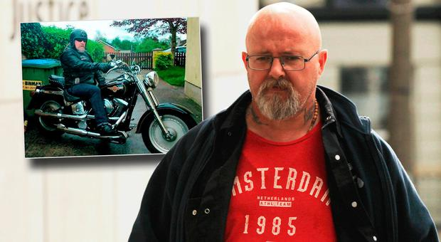 Alan 'Cookie' McNamara (50), of the Caballeros biker club, was found guilty of murdering Andrew O'Donoghue (51) (inset)