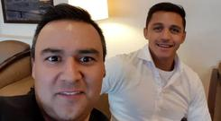 Alexis Sanchez's lawyer shared a picture of the pair preparing to leave Santiago airport in Chile CREDIT: ALEXIS SANCHEZ INSTAGRAM