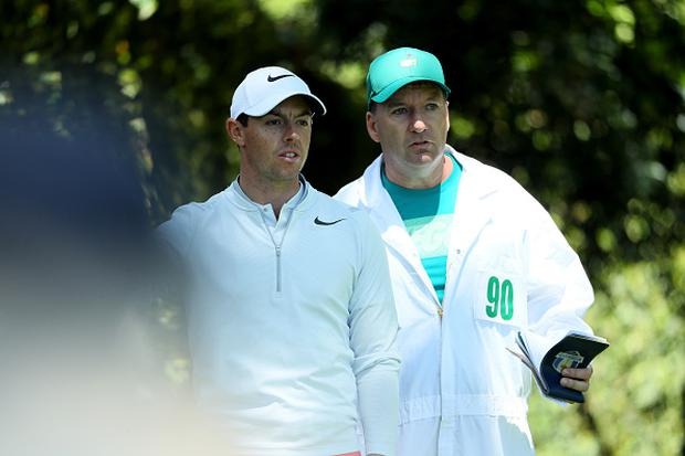 Rory McIlroy and JP Fitzgerald at Augusta