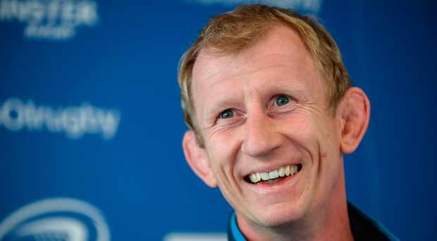 18 May 2017; Leinster head coach Leo Cullen during a Leinster Rugby Press Conference at RDS Arena, Ballsbridge, in Dublin. Photo by Sam Barnes/Sportsfile