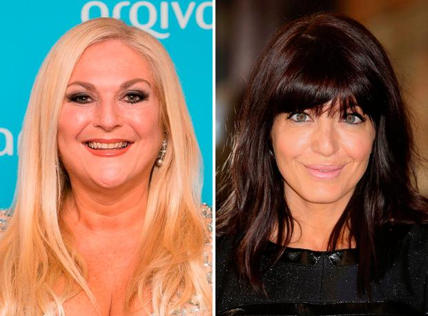 BBC presenters Vanessa Feltz (left) and Claudia Winkleman. Photo: PA