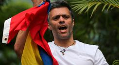 Venezuela's opposition leader Leopoldo Lopez following his release from prison on July 8. Photo: Fernando Llano. Photo: AP