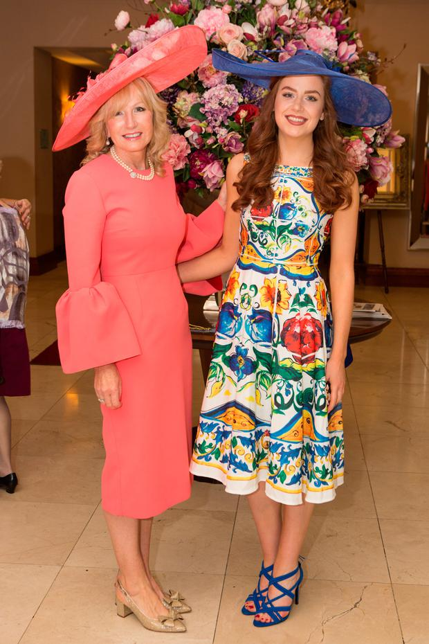 Maire and Jennifer Fleming at the Salthill Hotel for Prom to Paddock for Enable Ireland. Picture: Martina Regan