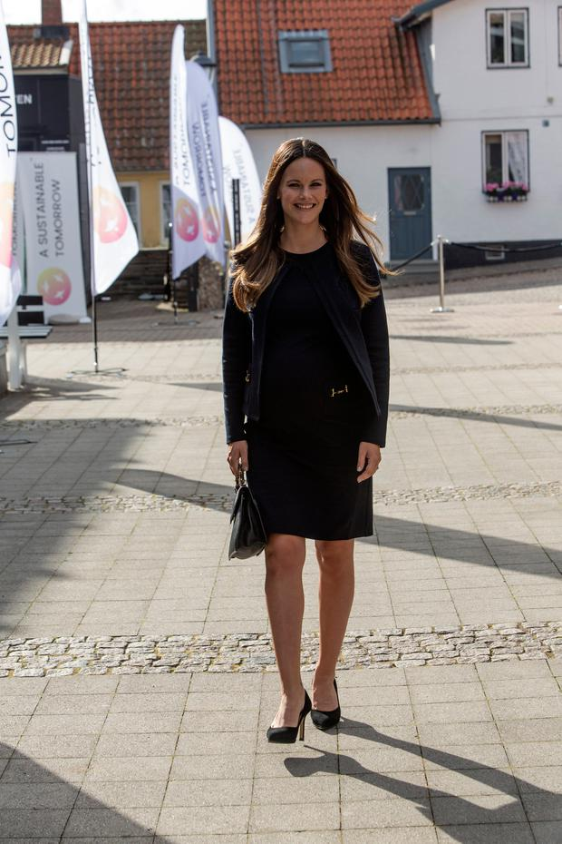 Princess Sofia of Sweden arrives to the Granslosa Moten's Sustainability and future seminar, 'A Sustainable Tomorrow' on August 2, 2017 in Bastad, Sweden. (Photo by Ole Jensen/Getty Images)