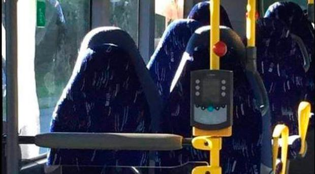People were furious when they thought these bus seats were women wearing burqas