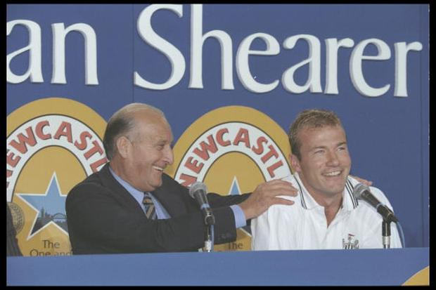 6 Jul 1996: Alan Shearer of Newcastle United during his press Conference at St. James'' Park in Newcastle. Mandatory Credit: Anton Want/Allsport UK