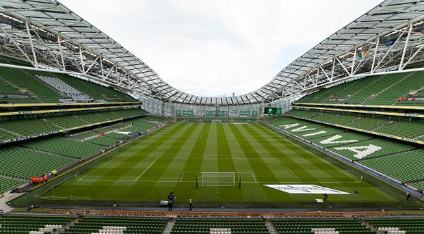 General view of Aviva Stadium before the FIFA World Cup 2018 Qualifying Round Group D match between Republic of Ireland and Austria at Aviva Stadium in Dublin Ireland on June11 2017