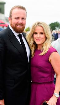 Shane Lowry and his wife Wendy enjoying a day out at Ballybrit