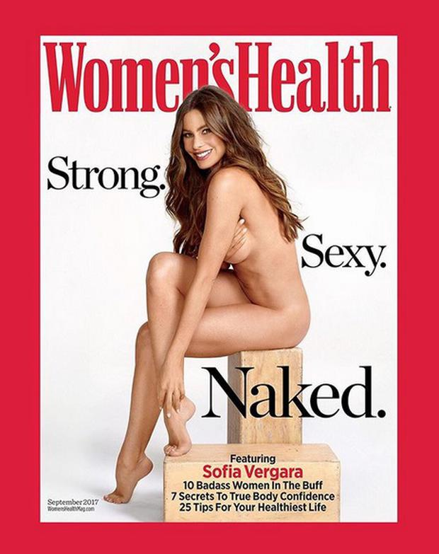 Sofia Vergara for the 'Naked Issue' of Women's Health