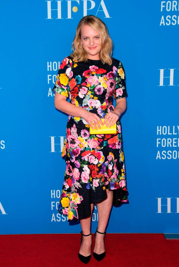 Actress Elisabeth Moss attends The Hollywood Foreign Press Association's Annual Grants Banquet on August 2, 2017 in Beverly Hills, California. / AFP PHOTO / VALERIE MACONVALERIE MACON/AFP/Getty Images