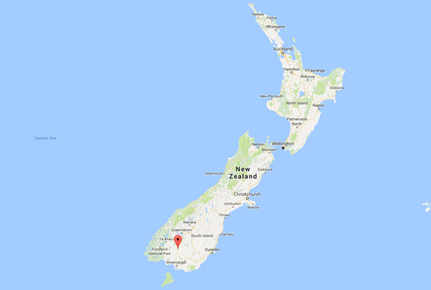 Sean works in a remote area of Lumsden in the Northern Southland district of South Island. Image: Google Maps.