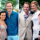 (L to R) Sharon O'Brien and Daithi O Se, Ronan Keating and Yvonne Connolly, Sile and Grainne Seoige at the Galway Races in 2008