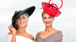 Mary Lee, Gort and Katy Geoghegan at Ladies Day at the Galway Races. Picture: Tony Gavin