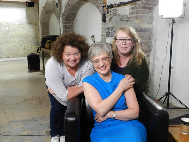 Linda Cullen (l) is the executive producer of Room to Improve. She has also co-directed 'The 34th' documentary with Vanessa Gildea (r) which features Katherine Zappone (centre)