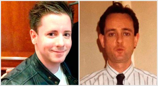 Dr Ben Stevens (left) is looking to find the Irish family of his birth father Gerry Monaghan (right)