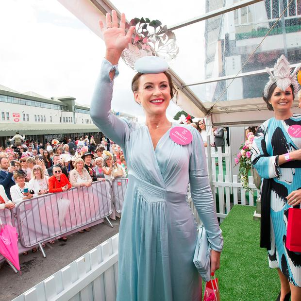 Aoife McCana from Spiddal, winner of the G Hotel Best Dressed Lady at The Galway Races. Photo: Tony Gavin