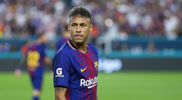 Neymar of FC Barcelona during the International Champions Cup 2017 match between Real Madrid and FC Barcelona at Hard Rock Stadium on July 29, 2017 in Miami Gardens, Florida. (Photo by Robbie Jay Barratt - AMA/Getty Images)