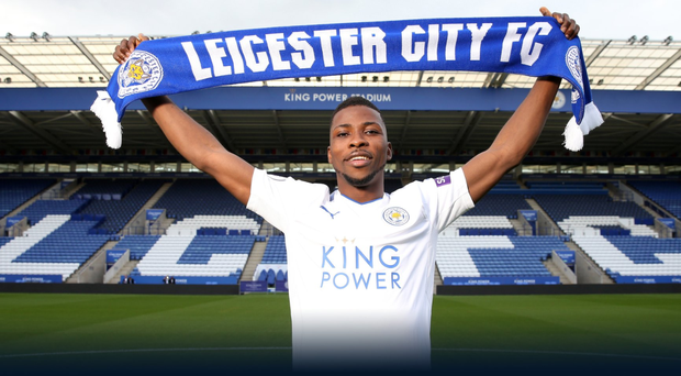 New Leicester City signing Kelechi Iheanacho. Photo credit - @LCFC Twitter