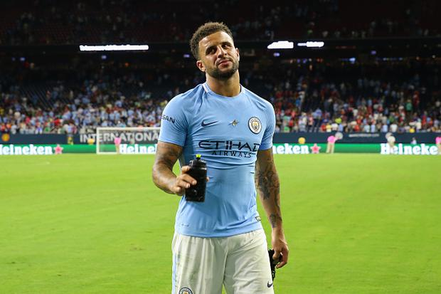 Kyle Walker of Manchester City walks off dejected at full time during the International Champions Cup 2017 match between Manchester United and Manchester City at NRG Stadium on July 20, 2017 in Houston, Texas. (Photo by Robbie Jay Barratt - AMA/Getty Images)