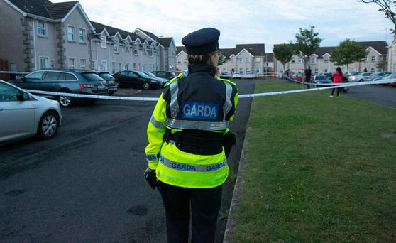 The scene at Mill Close following a shooting in Stamullen Co.Meath. Photo: Gareth Chaney Collins