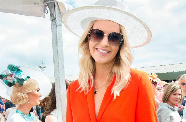 Aoibhin Garrihy was one of the judges of the Best Dressed Lady competition at the Galway Races. Picture: Tony Gavin