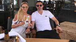 Claudine Keane on holidays in Ibiza with husband Robbie Keane. Picture: Twitter