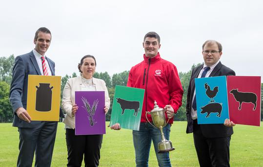 Pictured at the launch of the 2017 Macra na Feirme/FBD Young Farmer of the Year from left to right: Joe Healy IFA President, Carolyn O'Hara FBD, Kevin Moran 2016 Macra/FBD Young Farmer of the Year and James Healy Macra na Feirme National President
