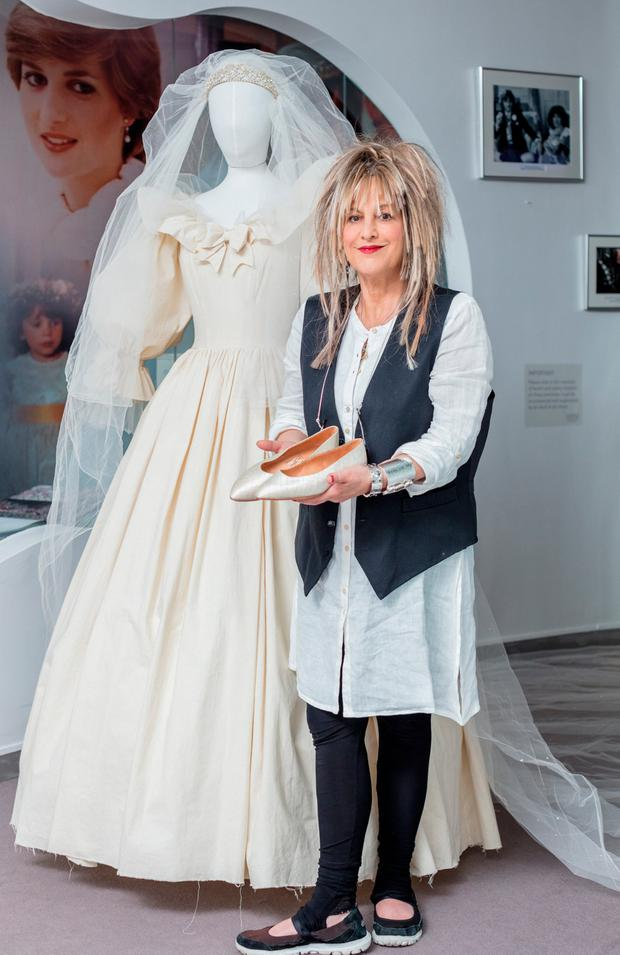 Elizabeth Emanuel at the 'Diana – A Fashion Legacy' exhibition at The Museum of Style Icons at Newbridge Silverware. Picture: Anthony Woods
