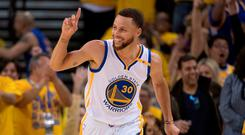 Golden State Warriors guard Stephen Curry (30) is a fine golfer too