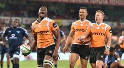 Oupa Mohoje of the Cheetahs during the Super Rugby match between Toyota Cheetahs and Vodacom Bulls at Toyota Stadium in Bloemfontein, South Africa. (Photo by Johan Pretorius/Gallo Images)