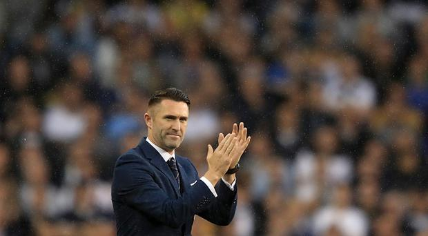 Robbie Keane, ex Tottenham Hotspur player walks onto the pitch during the closing ceremony after the Premier League match between Tottenham Hotspur and Manchester United at White Hart Lane on May 14, 2017 in London, England. (Photo by Richard Heathcote/Getty Images)