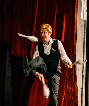 Johnny Phelan leads the Community Circus Kildare, C Circus K, group. Picture: James Duffy