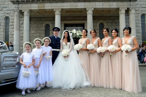 Wedding of Suzanne Jackson and Dylan O'Connor. St. Patrick's Church, Skerries, Co. Dublin. Picture: Caroline Quinn