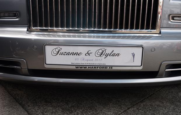 5 Aug 2017; General view of Rolls Royce Car. Wedding of Suzanne Jackson and Dylan O'Connor. St. Patrick's Church, Skerries, Co. Dublin. Picture: Caroline Quinn