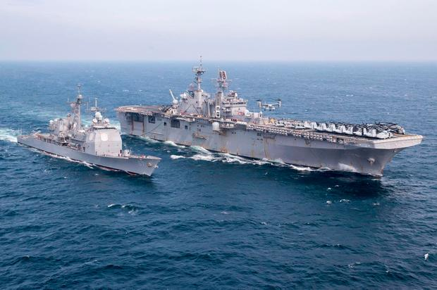 The aircraft launched from the USS Bonhomme Richard (LHD 6). Picture: Facebook