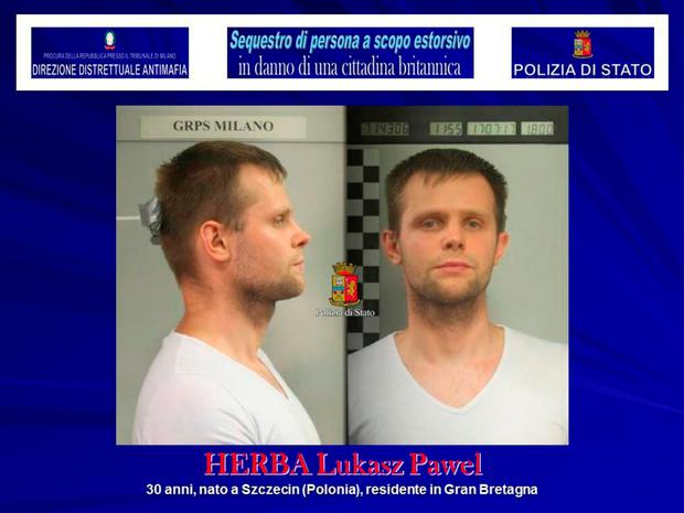 Lukasz Pawel Herba, the suspected kidnapper of a British model, is seen in this August 5, 2017 handout picture provided by the Italian Police in Milan. Polizia Di Stato/Handout via REUTERS