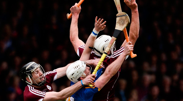 'In the National League final, Galway demolished reigning All-Ireland champions Tipperary with a performance that was power-driven, a formidable team of athletes who could hurl at the same time.' Photo: Sportsfile