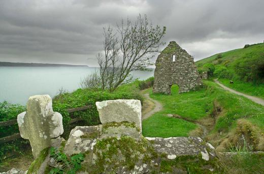 Healing waters: St David's Blessed Well on the cliffs above Ardmore, Co Waterford.