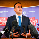 Issues: Taoiseach Leo Varadkar outlines Ireland's key concerns over Britain's Brexit plans during his speech at Queen's University in Belfast. Picture: Liam McBurney/PA Wire
